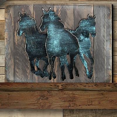 Designocracy Gallery Wild Stallion on Wood; 12'' H x 18'' W
