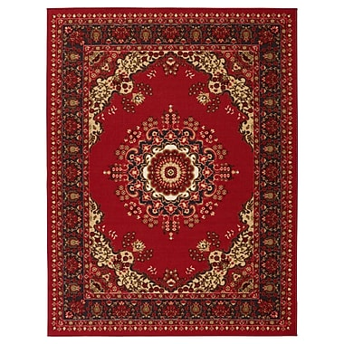 sweet home stores Clifton Red Area Rug; 7'10'' x 9'10''