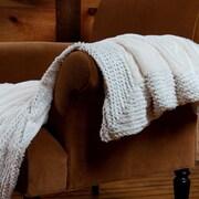 Berkshire Blanket Plushmink Sequin Throw; Cream