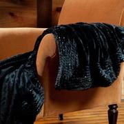 Berkshire Blanket Plushmink Sequin Throw; Black
