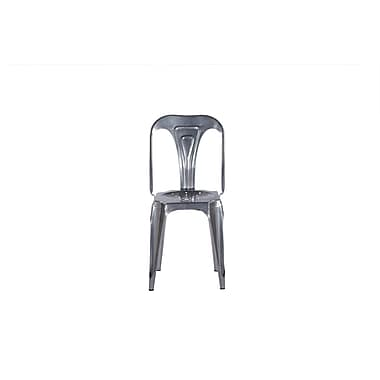 Oak Idea Remington Side Chair (Set of 2); Silver