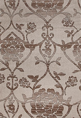 Persian-rugs Beverly Beige/Brown Area Rug; 4' x 5'3''