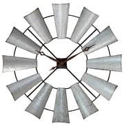 Aspire 39'' Farmhouse Windmill Wall Clock