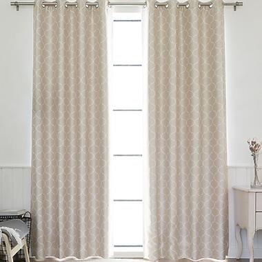 Best Home Fashion, Inc. Venetian Quatrefoil Geometric Blackout Thermal Grommet Single Curtain Panel