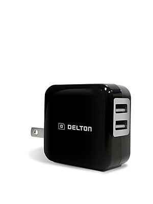 Delton 2.1 AMP Dual Port USB Home Charger (DH2USB2A)