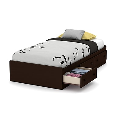 South Shore Little Smileys Twin Mates Bed (39'') with 3 Drawers, Espresso (10406)