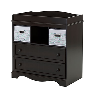 South Shore Savannah Changing Table with 2 Nursery Baskets, Espresso (100127)