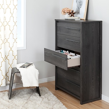 South Shore Tao Grey Oak 5-Drawer Chest with Jewellery Organizers Set (100138)