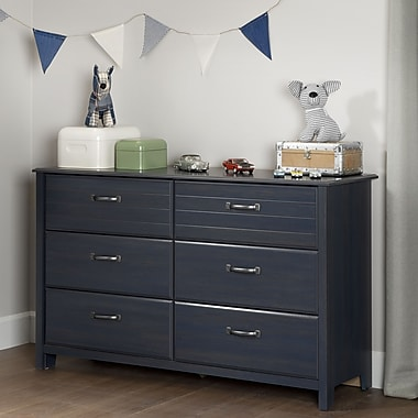South Shore Ulysses 6-Drawer Double Dresser, Blueberry (10361)