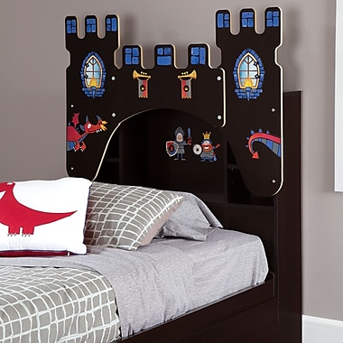 South Shore Vito Twin Bookcase Headboard (39'') with Decals
