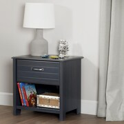 South Shore Ulysses 1-Drawer Nightstand, Blueberry (10363)