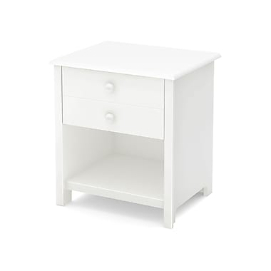 South Shore Little Smileys 1-Drawer Nightstand, Pure White (10201)