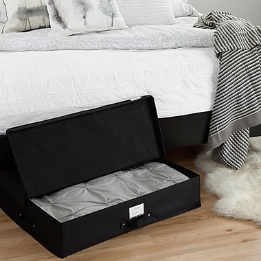 South Shore Storit Black Canvas Underbed Storage Box (100039)
