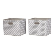 South Shore Storit Taupe and White Fabric Storage Baskets with Pattern, 2-Pack (8050138)