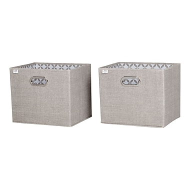 South Shore Storit Taupe Fabric Storage Baskets, Chambray, 2-Pack (8050139)