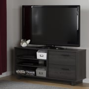 South Shore Fynn TV Stand with Drawers for TVs up to 55'', Grey Oak (10374)
