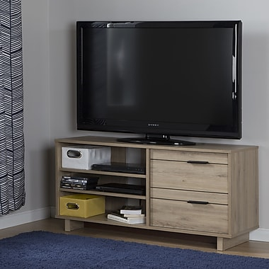 South Shore Fynn TV Stand with Drawers for TVs up to 55'', Rustic Oak (10375)