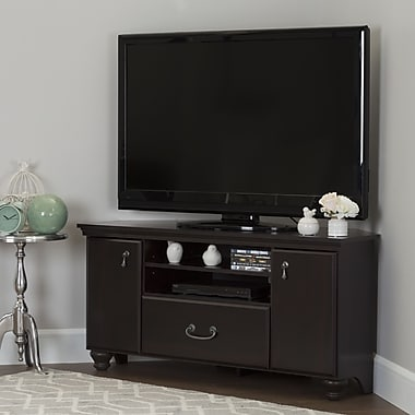 South Shore Noble Corner TV Stand for TVs up to 60'', Dark Mahogany (10380)