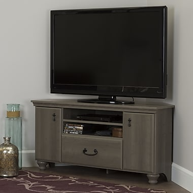 South Shore Noble Corner TV Stand for TVs up to 60'', Grey Maple (10381)