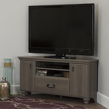 South Shore –Meuble pour téléviseur jusqu'à 60 po, érable gris, collection Noble Corner (10381)