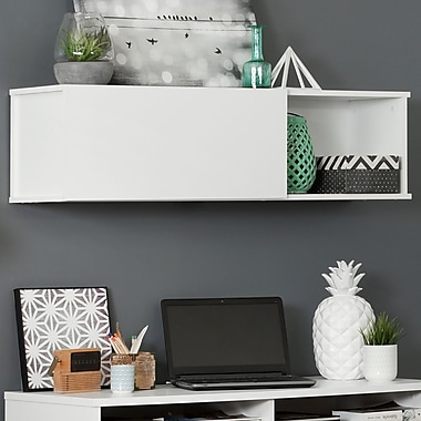 South Shore Interface Wall Mounted Storage Unit, Pure White (10378)