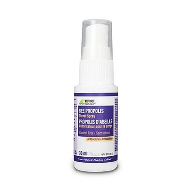 Westcoast Naturals Bee Propolis Liquid Throat Spray Alcohol Free, 4 x 30 mL