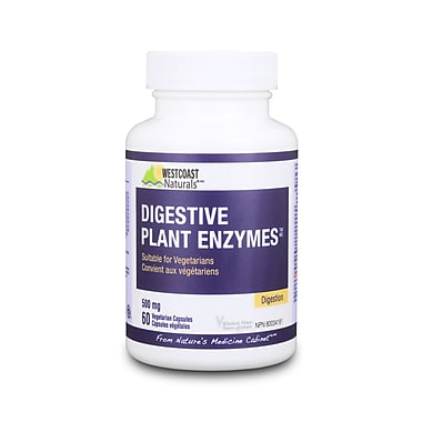 Westcoast Naturals Digestive Plant Enzymes, 2 x 60 Vcaps