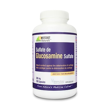 Westcoast Naturals – Sulfate de glucosamine complexe, 2 bouteilles x 200 capsules