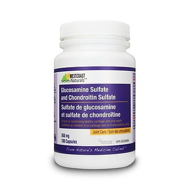 Westcoast Naturals – Duo glucosamine/chondroïtine, 2 bouteilles x 100 capsules