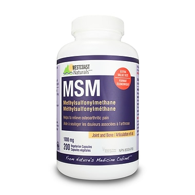 Westcoast Naturals – MSM, 2 bouteilles x 200 capsulesV