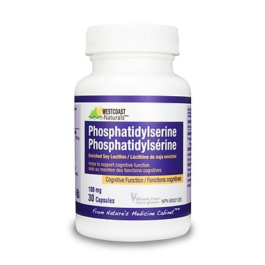 Westcoast Naturals Phosphatidylserine, 2 Bottles x 30 Capsules