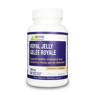 Westcoast Naturals 30501, Royal Jelly, 50 Capsules, White