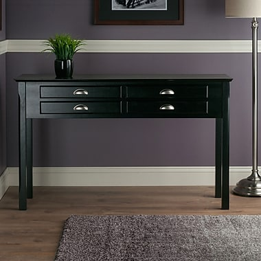Winsome Trading Wood Console Table, Black, Each (20450WTI)