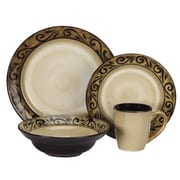Cuisinart® CDST1-S4G5 Isere Collection Ceramic 16-Piece Stoneware Dinnerware