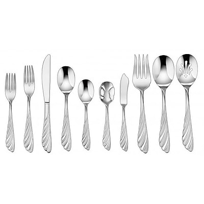 Cuisinart® CF-01-AB45 Abelle Stainless Steel 45 Piece Flatware Set