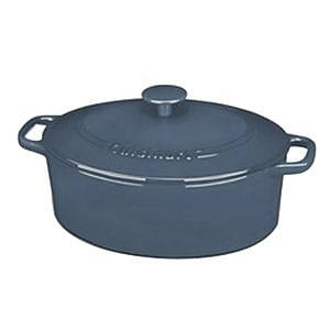 Cuisinart® Chef's Classic™ 5.5 qt. Oval Covered Casserole, Blue (CI755-30BG)