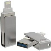 Worryfree Gadgets 16GB USB Flash Drive, Silver (FD16GB-SLIVER)