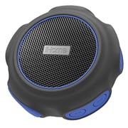 iHome iBT82 Waterproof/Dustproof Rechargeable Bluetooth Speaker with Speakerphone, Black/Blue