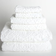 Mi Casa Deco Sanderson 6 Piece Towel Set; White