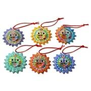 Novica Fair Trade Christmas Ceramic Ornament (Set of 6)
