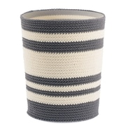 Ellis Knitted Decorative Trash and  Waste Can, Gray/Ivory (4733)