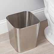 Gia Wastebasket Trash Can - Brushed Stainless Steel (16580)