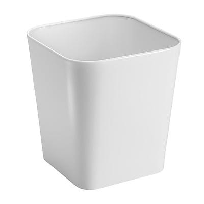 Gia Fire Safe Wastebasket Trash Can - Steel, White (16593)