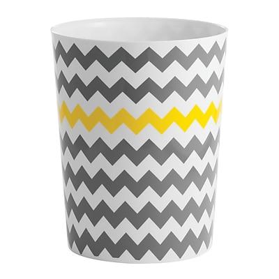 Chevron Waste Can, Gray/Yellow (21396)