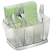 Rain Silverware, Flatware Caddy Organizer for Kitchen Countertop Storage, Dining Table - Clear (38650)
