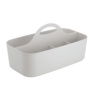 Clarity Bath Tote for Crafts, Beauty Products, Cosmetics - Small, Light Gray (40786)