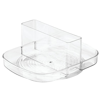Linus Lazy Susan Turntable Napkin and Condiments Holder - Clear (58830)
