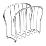 York Lyra Newspaper and Magazine Rack for Bathroom, Office, Den - Chrome (62970)