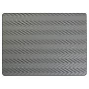 Silicone Dish Drying Mat, Chevron Gray, Large (63713)
