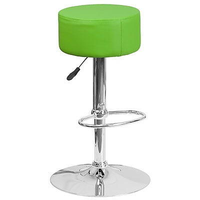 Flash Furniture Contemporary Green Vinyl Adjustable Height Barstool with Chrome Base (CH-82056-GRN-GG)